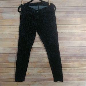 J Brand Black Floral Brocade jeans size 28